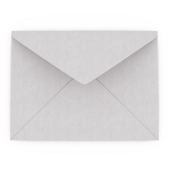 Крупным планом на белом конверте изолированные