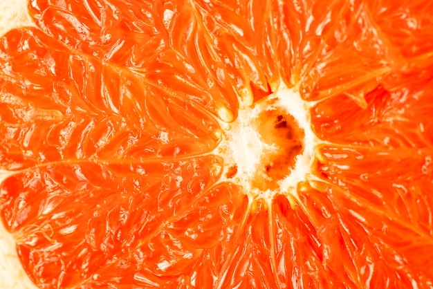 Close-up orange grapefruit pulp