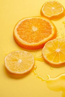 Close-up organic lemon slices