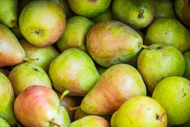 Close up organic pears