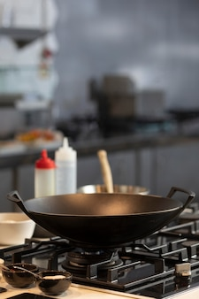 Close up pan for cooking