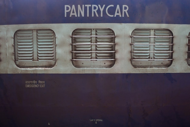Close up of a pantry car on a train