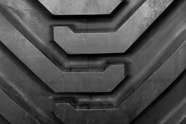 Close-up pattern and texture of big tire of tractor car