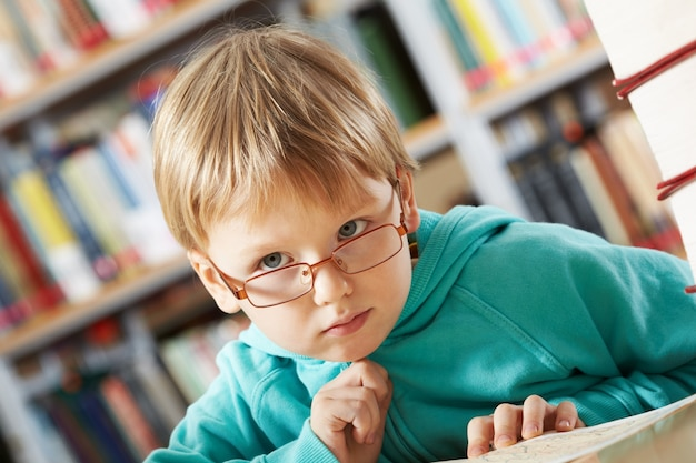 Close-up of pensive little boy