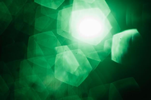 Close-up pentagon specks of light