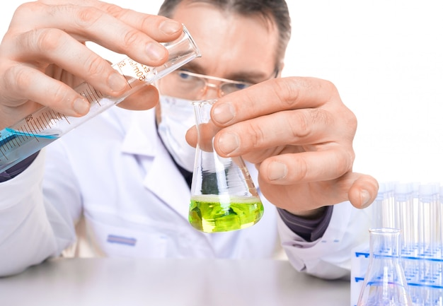 Close up photo of a biochemistry researcher.