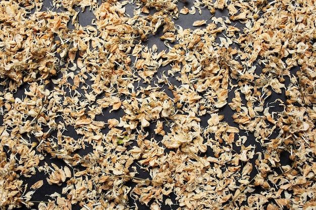 Close-up photo of dried robinia pseudoacacia flowers. pattern idea.close-up photo of dried robinia pseudoacacia flowers. pattern idea.
