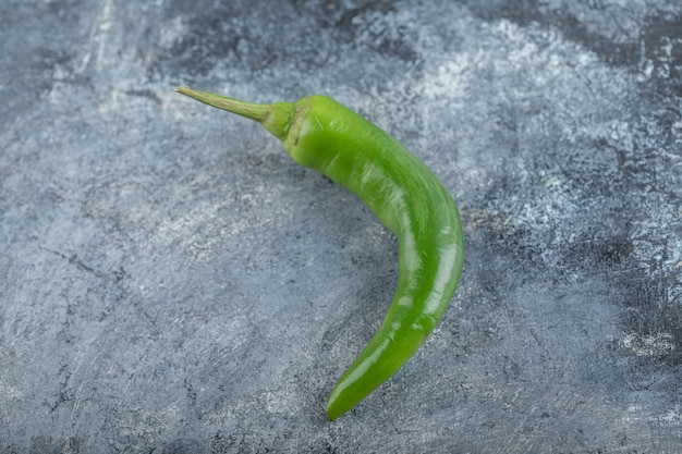 Close up photo of green hot chili pepper. high quality photo