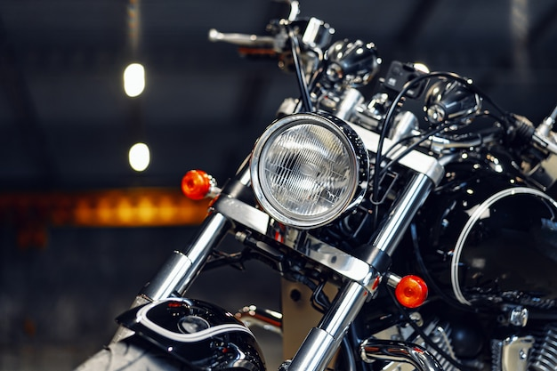 Close up photo of high power motorcycle part