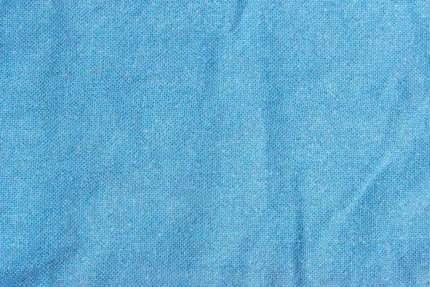 水色の布のテクスチャのクローズアップ写真