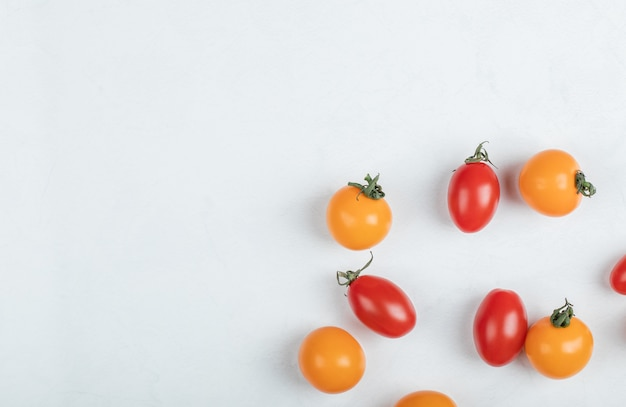 Close up photo pile of cherry tomatoes . high quality photo