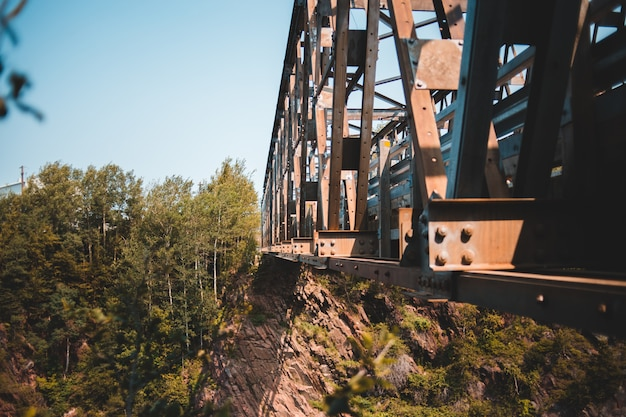 Close-up photography of bridge