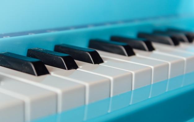 Close-up of piano keys. close frontal view