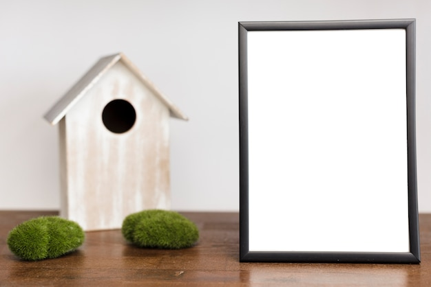 Close-up picture frame on table top