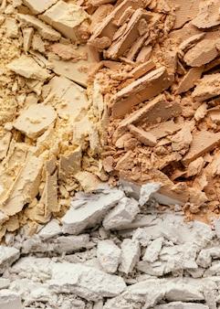 Primo piano polvere pigmentata
