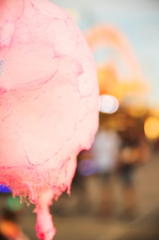 Close-up of pink candy floss