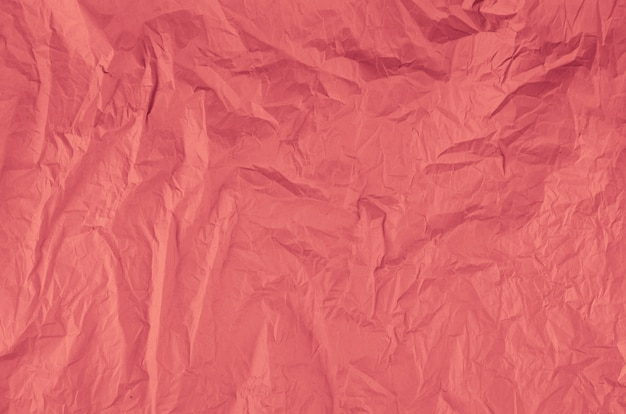 Close-up pink crumpled paper