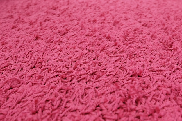 Close up of pink plush texture pattern background with copy space for text decoration