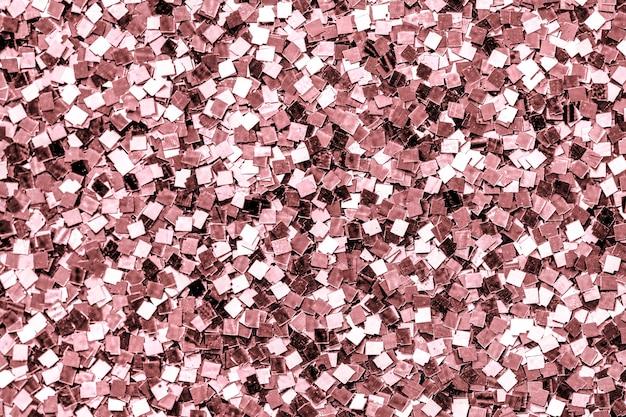 Primo piano di uno sfondo di paillettes rosa