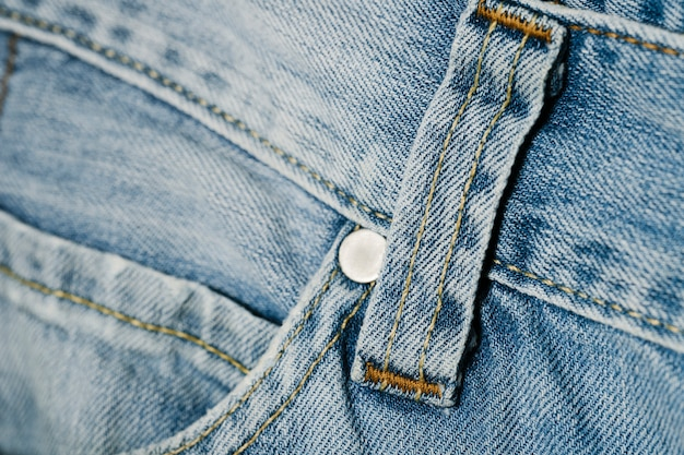 Close-up pocket of denim pants