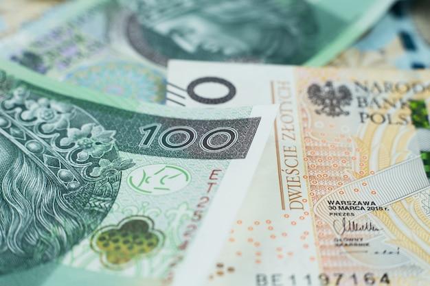 Close up of polish money