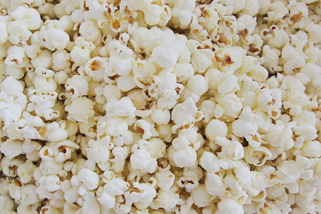Close up of popcorn.