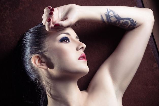 Close-up portrait of amazing girl