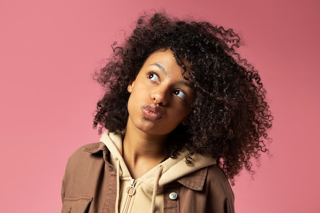 Close up portrait of beautiful teenager