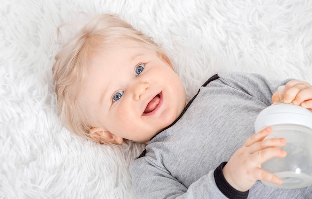 Close up portrait of cute baby girl