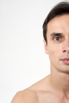 Close up portrait of man