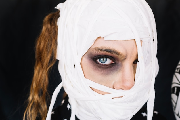 Close-up portrait of mummy girl