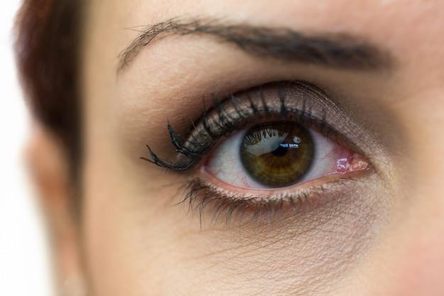 Крупным планом портрет женщины глаза