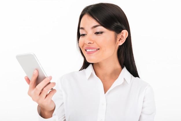 Close up portrait of a pretty asian businesswoman