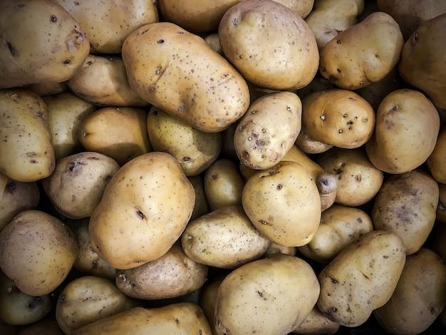 Close up potato texture