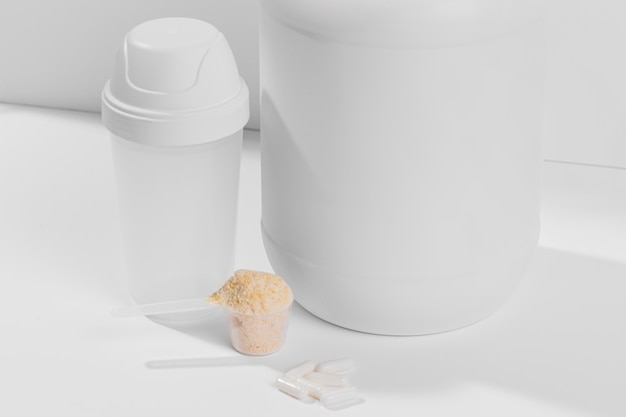 Close-up powder supplements for gym