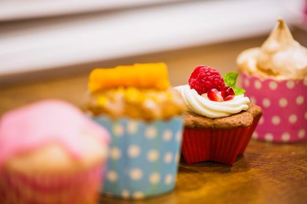 Close-up graziosi cupcakes