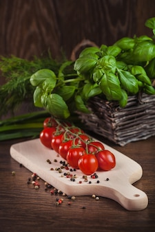 Close up of products from italian cuisine