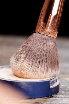 Close up on professional cosmetic brush