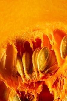 Макро тыква с семенами