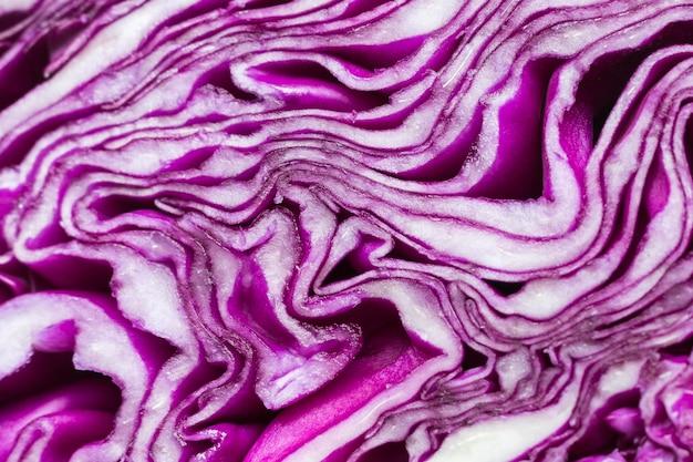Close-up di cavolo viola