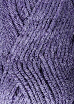 Close-up of purple colored wool yarn