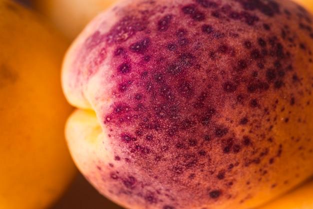 Close-up purple and yellow apricot