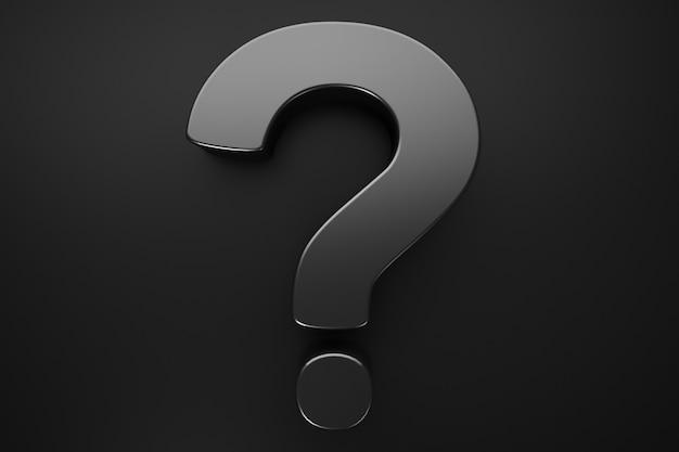 Закройте вопросительный знак. темная тема. вопросительные темы.
