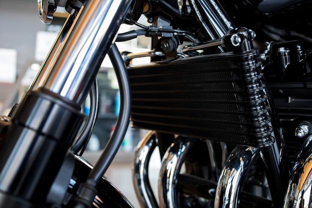 Close up radiators of big bike motorcycles