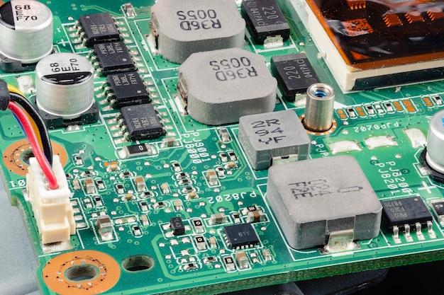 Ramとマザーボード、パーツコンピュータpcまたはラップトップを閉じます。