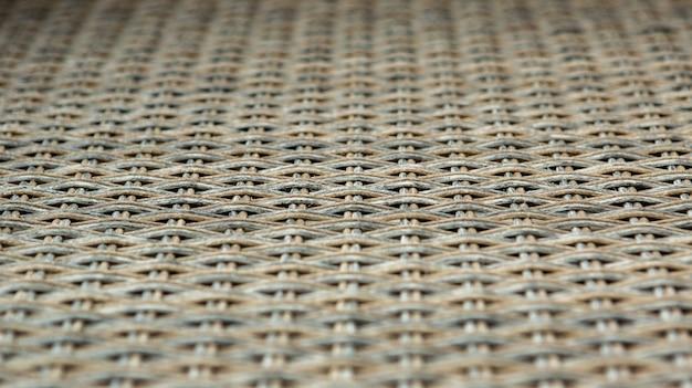クローズアップテクスチャ背景の籐織りをクローズアップ
