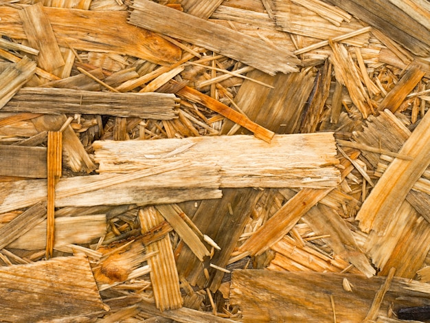 Close up of a recycled compressed wet wood