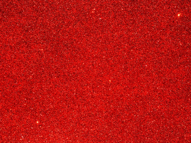 Close up of red glitter background