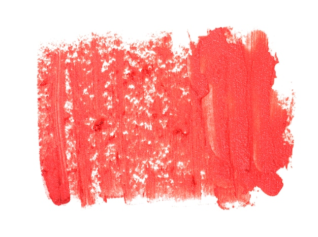 Close up of red lipstick texture