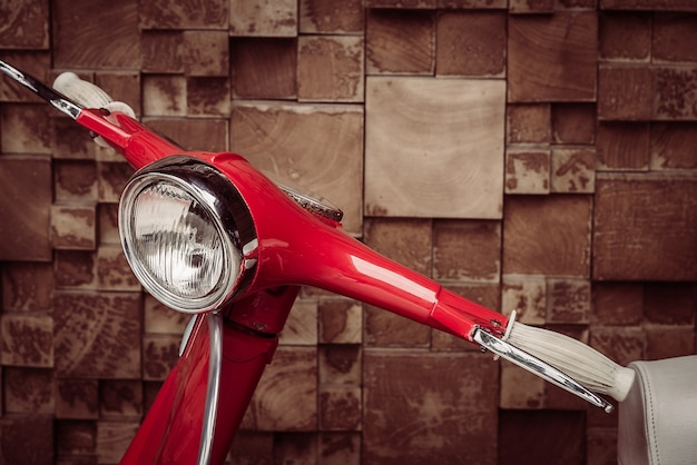 Close-up of red motorcycle